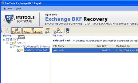Restore Exchange 2007 Backup